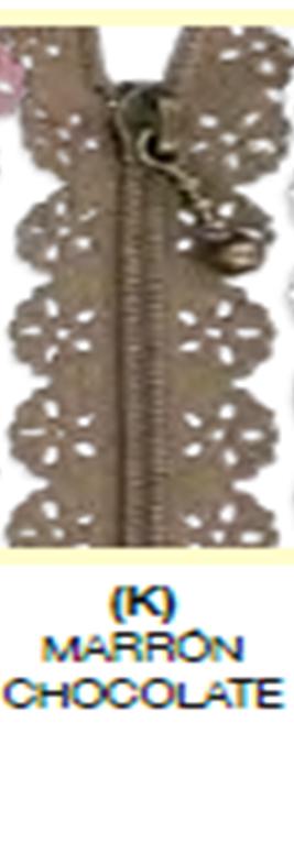 C9037K Cremallera puntialla marron chocolate