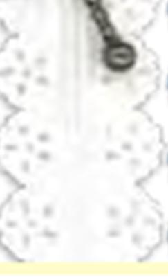 C9037L Cremallera puntilla Blanca