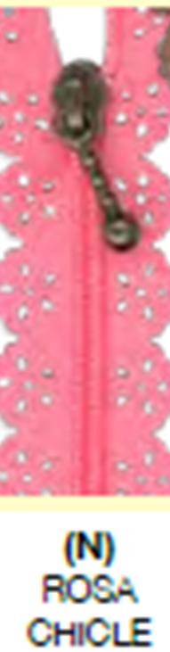 C9037N Cremallera puntilla Rosa Chicle